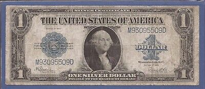 1923 $1 Silver Certificate Horse Blanket Note,Blue Seal,circulated VG,Nice!