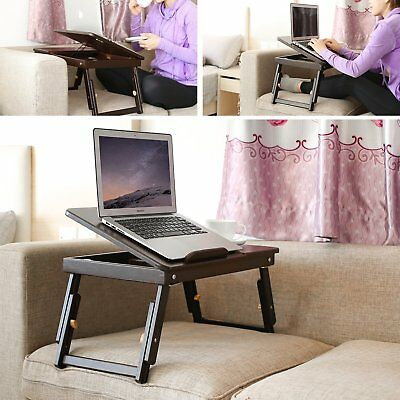 Portable Laptop Lap Stand Desk Table Tray sofa bed Mouse Foldable Adjustable New