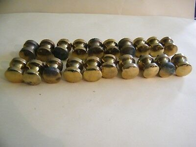 20 Vintage Draft Drawer Knobs Solid Brass