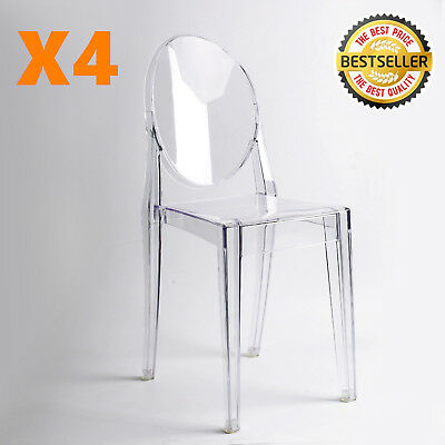 MODERN GHOST CHAIR in Transparent Clear Crystal-Dining Table