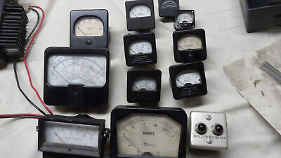 Vintage assortment 12 in all Voltmeter ampmeters milliamps etc