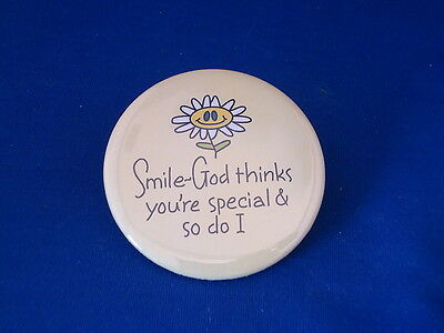 """SMILE - GOD SPECIAL""  Lot of 5  Christian BUTTONS  pins pinbacks 2 1/4"" Large!"