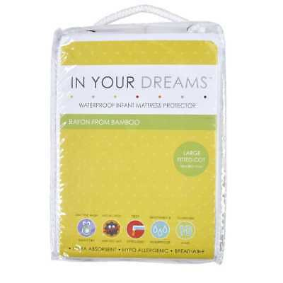 NEW In Your Dreams Bamboo Fitted Mattress Protector By Spotlight