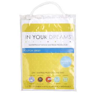 NEW In Your Dreams Basinette Fitted Mattress Protector By Spotlight