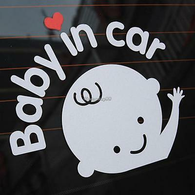 Baby In Car Safety Sign Cute Car Decal Vinyl Sticker Reflective C1MY 01