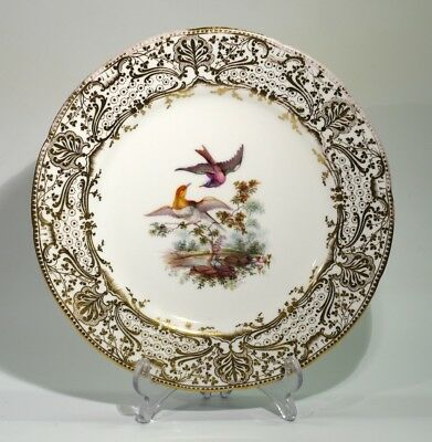Beautifully Painted & Gilded 19th Century Antique Porcelain Plate.