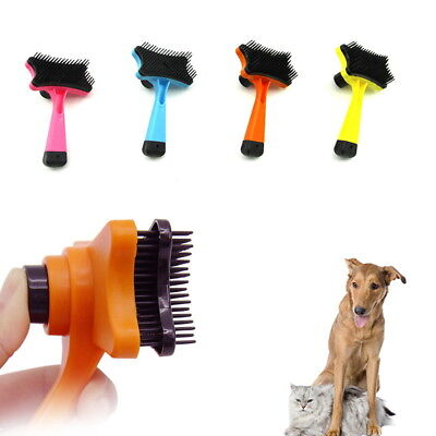 Dog Cat Hair Brush Fur Shedding Trimmer Grooming Rake Professional Comb Brush