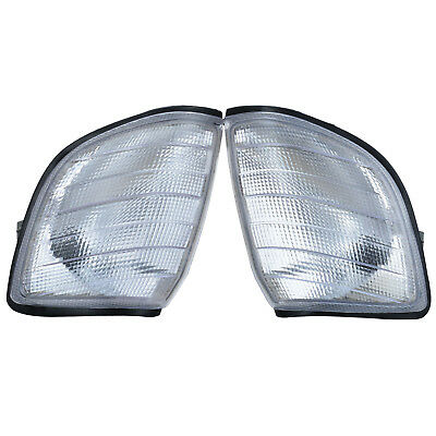 Pair Left&Right Side Turn Signal Corner Light for Mercedes Benz W140 1991-1998