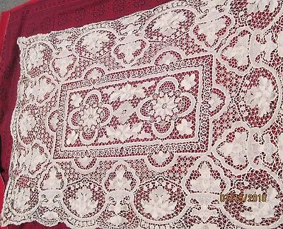 beautiful vintage handmade lace tablecloth