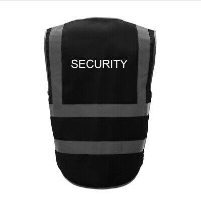 GOGO Safety Vest SECURITY Printed 8 Pockets Class 2 Reflective High Visibility