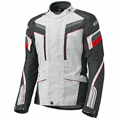 Held Lupo Touring Textile Waterproof Motorcycle Jacket - Grey / Red