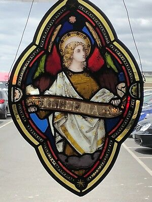 Victorian stained glass panel in mint condition with new lead.