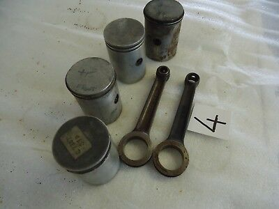 VILLIERS ENGINE 9E 2X Con Rods + 4 Assorted Pistons Greeves Historic Kart