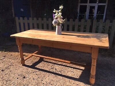 Antique Victorian Old Pine Country Farmhouse Refectory Table *Delivery possible