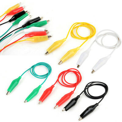 10Pcs 50cm Alligator / Krokodil Clip Farbige Test Draht Kabel Double Ended Leads