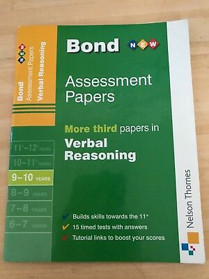 Bond 11 plus Verbal Reasoning Assessment paoers 9-10