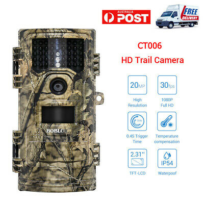20MP 1080P Trail Camera Home Security IR Hunting Scouting Wildlife Game  Cameras