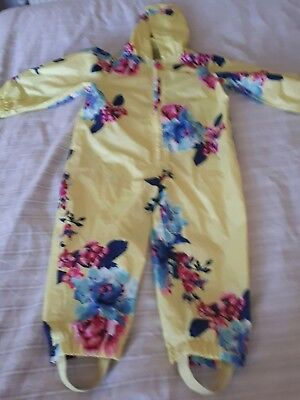 Joules toddler splashsuit/puddlesuit 18-24 months girls yellow floral.