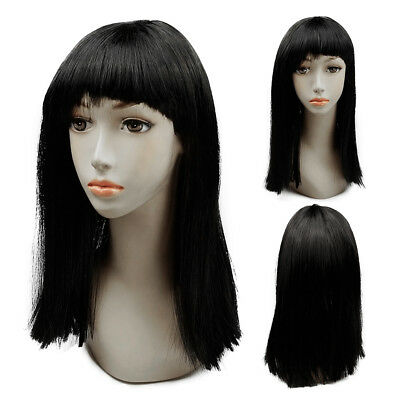 Cosplay Egyptian Goddess Cleopatra Ladies Wig Black Hair Costume Accessory