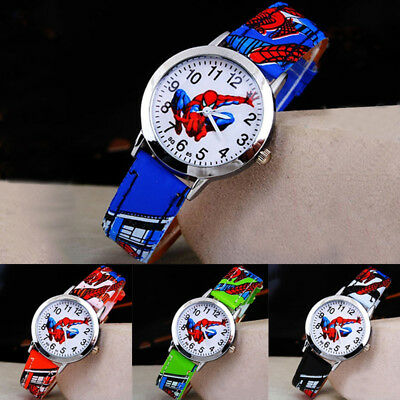 Kids Girls Boys Children Cartoon Watch Frozen SpiderMan Minion Batman Pokemon UK