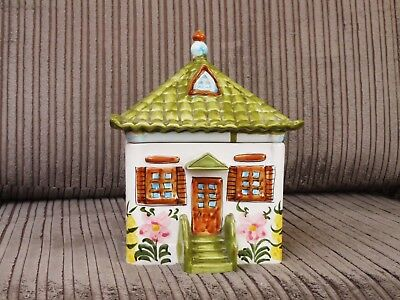 Unusual Pottery Lidded Box in the Form of a Cottage