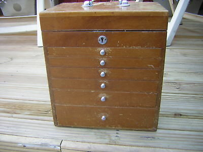 A Vintage Dentist/dental Cabinet-Graduated Glass Lined Drawers-