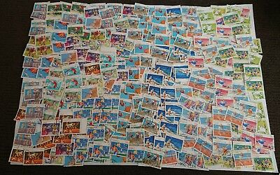 Bulk 300 Australian Sport Series Stamps Used Off Paper