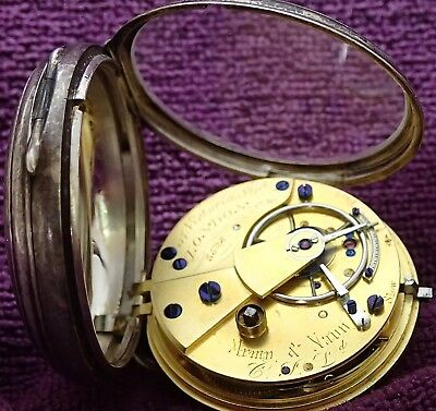 ARMY & NAVY  Solid Silver Working Fusee Lever Pocket Watch London 1885