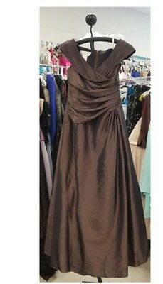 Size 14 Brown Mother Of Bride/groom Dress NWT