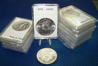 10 Coin Holders Slab Style ** for US Eagle** -- size 40 mm**