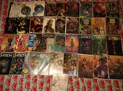 comic collection, michael turner, aspan,aphrodite ect