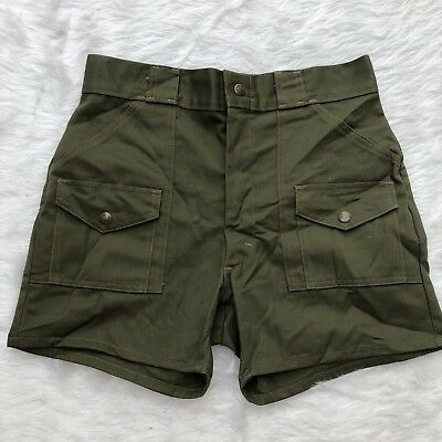 VINTAGE 70's OFFICIAL BOY SCOUTS OF AMERICA BSA Classic Green Uniform Shorts