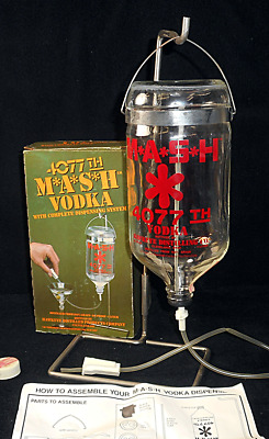 4077th Mash Vodka Bottle  M*A*S*H With Complete Dispensing System ~ Barware
