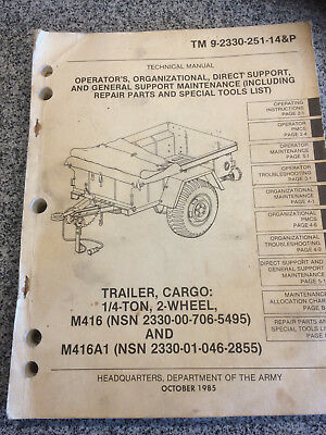 US Mutt Trailer M416 Manual