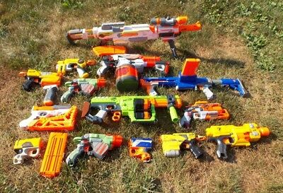 Nerf Soft Dart Gun Lot w/Ammo Magazines Huge Lot of Guns Summertime FUN!