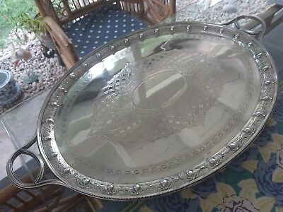 Victorian Martin Hall & Co Tea Drinks Tray Silver Plate EXQUISITE CONDITION