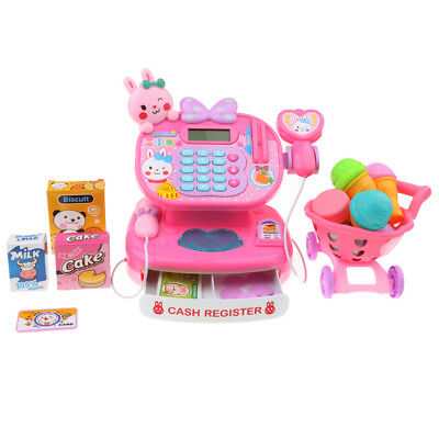 Pretend Play Supermarket Cash Register Scanner Toy Shopping Checkout Games