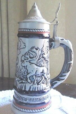 AVON Beer Stein Rocky Mts Commemorative Hand Crafted Collectible 1976 VINTAGE