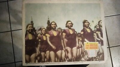 United States Goverment Presents   The Battle Of Russia 1943 11X14 Lobby Card