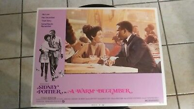 A Warm December 1973 #3 11X14 Lobby Card Sidney Poitier Esther Anderson Vintage