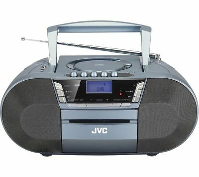 JVC Portable DAB FM Radio CD Player Bluetooth Stereo Boombox with Cassette, USB