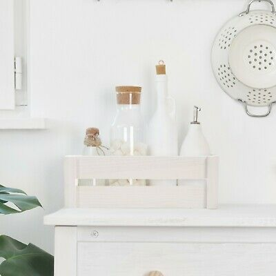 Pure White Wooden Apple Crate Retail Display Shelf Storage Box Gift Hamper