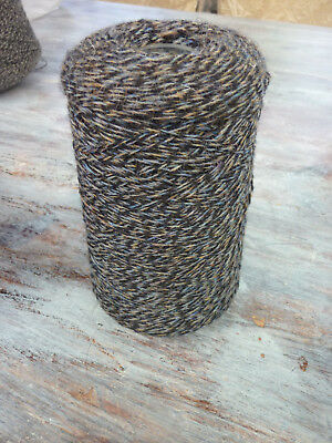 Black,sand,blue cone shetland pure wool machine knitting 2/8s Vintage 273 grams