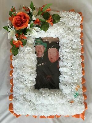 Christmas Artificial Silk Funeral Flower Tribute Large Photo Frame Memorial