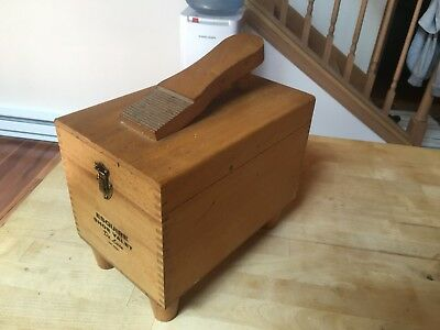 Esquire Shoe Shine Box And Accessories Wooden Vintage