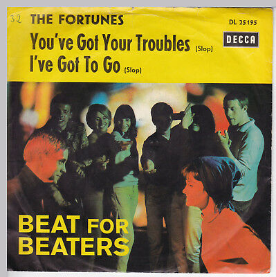 """THE FORTUNES // *You've Got Your Troubles* // 7"""" // German Picturesleeve"""