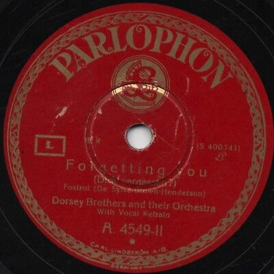 "78er Jazz Hot Dance 1928 Dorsey Brothers Orch. ""Forgetting You"""