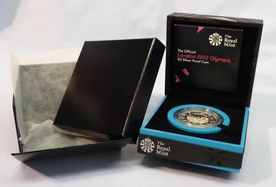The Official London 2012 Olympic £5 Silver Proof Coin Original Boxes And C.o.a.