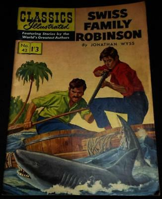 Classics Illustrated - Swiss Family Robinson No.42 in good condition