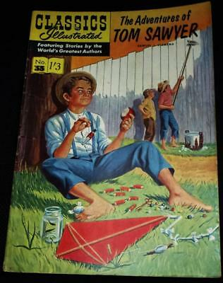 Classics Illustrated - Adventures of Tom Sawyer No.33 in good condition
